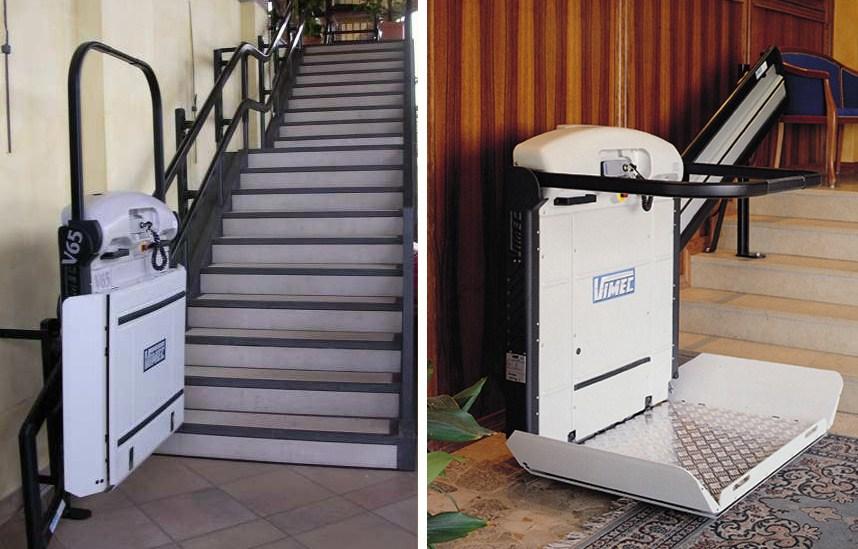 Salvaescaleras Para Discapacitados En Acceso A Edificios